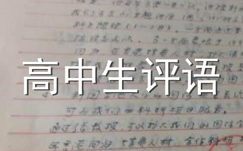 【精】高中评语范文集锦7篇