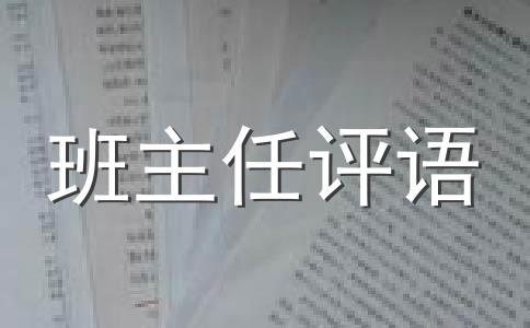 【精选】评语范文汇编七篇